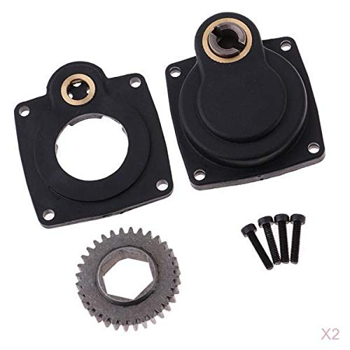 T TOOYFUL 2pcs Electric Starter Backplate for RC Car HSP 16/18/21/25 Engine Parts Accs