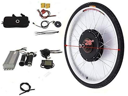 Kit de conversión para rueda trasera de bicicleta eléctrica de 28 pulgadas, 36 V, 250 W, con pantalla LCD