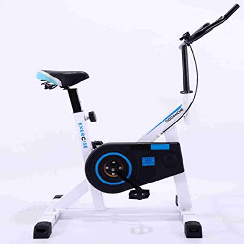 Shlia Pequeña bicicleta giratoria para el hogar, bicicleta de ejercicio, bicicleta de interior, silenciosa, equipo de fitness, ciclismo, equipo de deportes en el hogar (blanco)