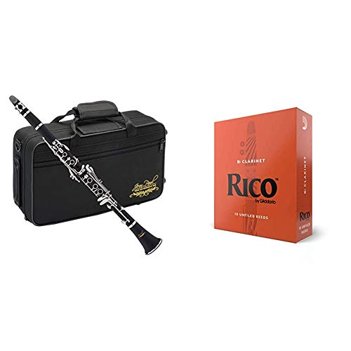 Jean Paul USA CL-300 Student Clarinet & Rico Bb Clarinet Reeds, Strength 2.0,...