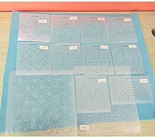 YICBOR - Plantillas de 12 cm x 12 cm para colcha con herramientas de patchwork,