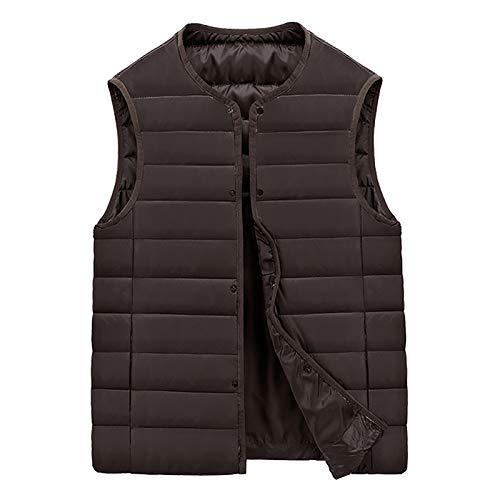 ZYMQ USB Smart Wanderheizung Weste Weste Winter beheizte Jacke Männer Frauen Elektrische Heizung Kleidung Feste Farbe Kohlefaser Warme Jacke M ~ 5XL,Braun,M