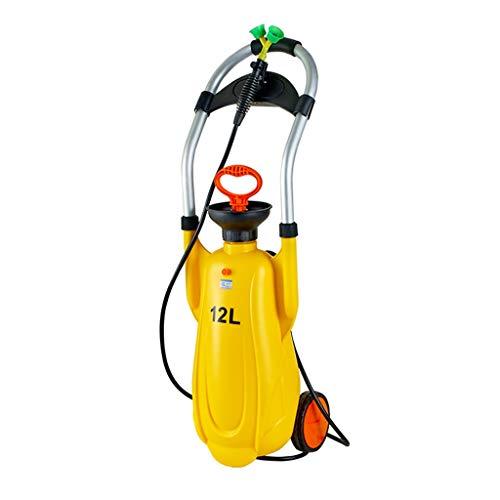 GLJ Estación de Lavado de Ojos Pequeña Estación de Lavado de Ojos de Emergencia Portátil, Rociador de Lavado de Ojos de Seguridad, Lavaojos Móvil con Carro 12L, para el Laboratorio de Química