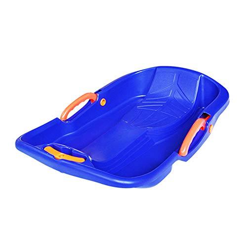 Luckylj Plastic SNO Slider Bob, Downhill Sprinter Rodelschlitten,Blau,S