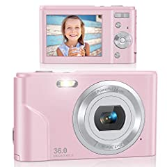 🎁【FHD 1080P & 36MP Digital Camera】Featured with FHD 1080P resolution and 36.0 megapixels, this digital camera will help you to capture the most exciting memorable moments with good quality images or videoes. Totally fits your demand, you could have f...