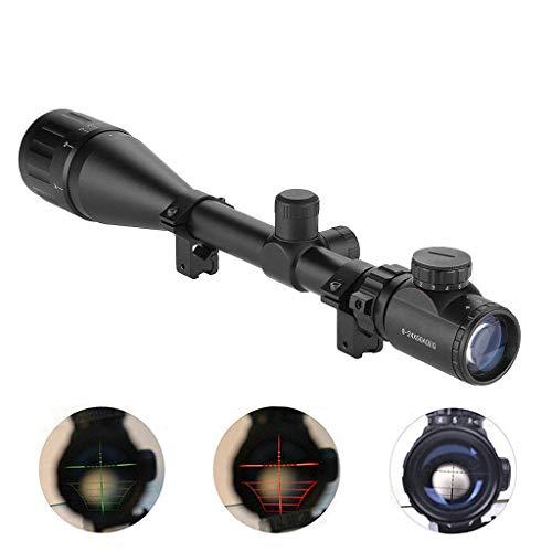IRON JIA'S los vidrios táctico 6-24x50AOE retículo Rojo y Verde Pistola de luz encendida, la Caza del
