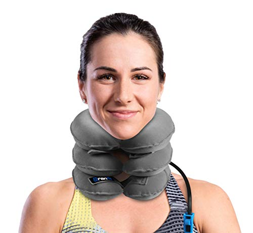 Best Cervical Neck Traction Device & Collar Brace by BRANFIT, Inflatable & Adjustable Neck Support Pillow is Ideal for Spine Alignment & Chronic Neck Pain Relief