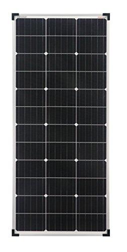 enjoy solar Mono 100W 12V Monokristallines Solarpanel ideal für Wohnmobil, Gartenhäuse, Boot (Einzelverpack)