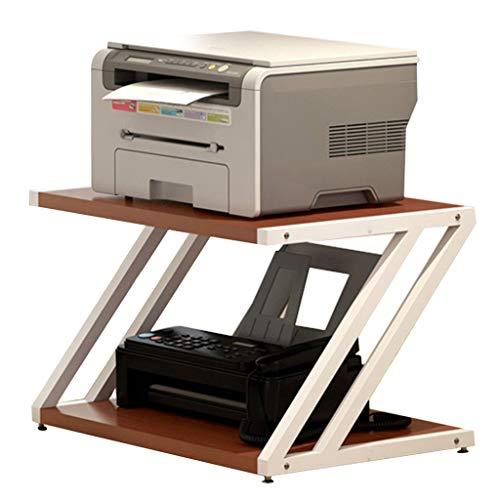 FFF8 - Estantería para Impresora, estantería de Escritorio, Soporte de Acabado de Cocina, Estante de Almacenamiento para estantería, marrón, 44 * 38 * 39cm