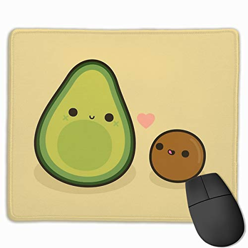 Cute Avocado and Stone Gaming Mouse Pad Non-Slip Rubber Base Mouse Mat for Home,Office & Travel,11.8x9.8 inch