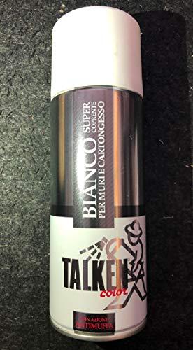 TALKEN - SPRAY - BIANCO SUPERCOPRENTE - 400 ml - CON AZIONE ANTIMUFFA