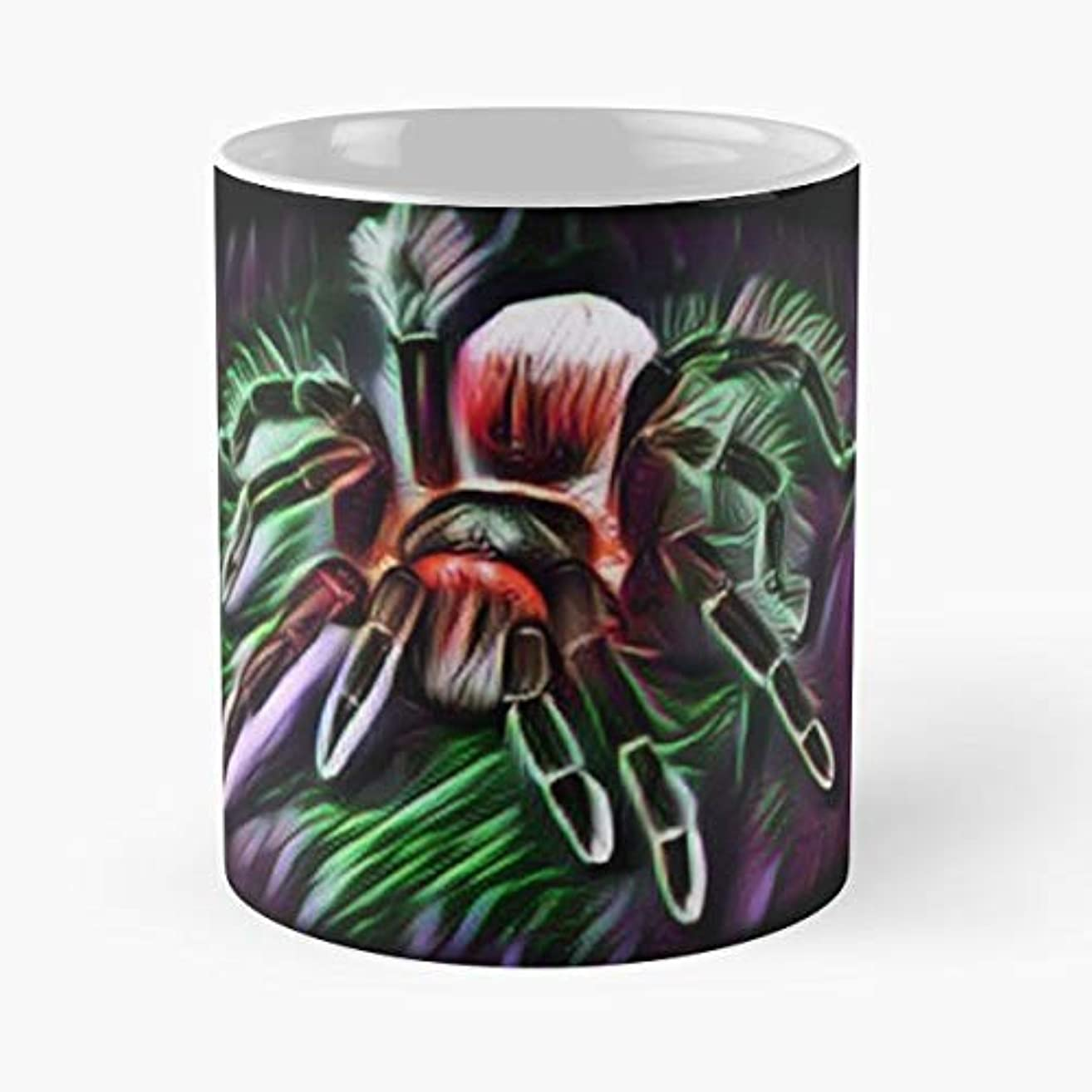 Spider Tarantula Vogelspinne Web - 11 Oz Coffee Mugs Unique Ceramic Novelty Cup, The Best Gift For Halloween.