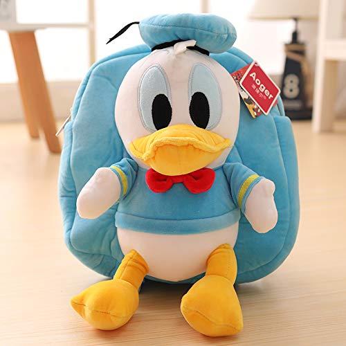 Peluches - Bolso De Escuela De Dibujos Animados Lindo Mickey Minnie Donald Duck Pato donald azul