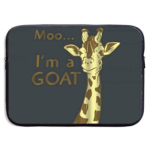 Funny Giraffe Quote I'm A Goat Laptop Sleeve Shoulder Bag Protective Carrying Case Compatible with 15 Inch Slim Sleeve