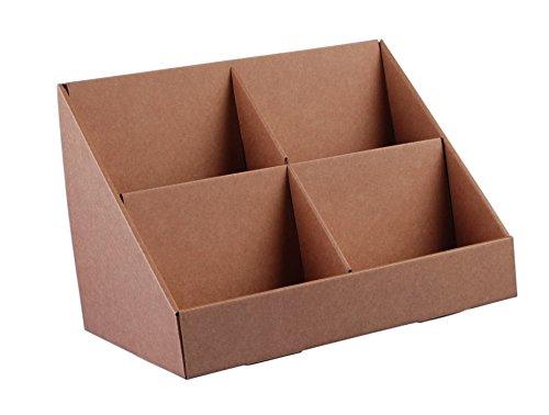 Stand-Store, Verkaufsständer aus Pappe mit 4 Fächern für CD's/DVD's/Grußkarten