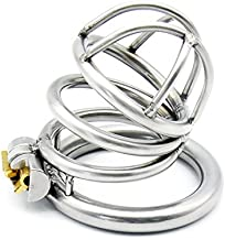 Greymond Men Chástí-ty Device, Cǒck Lock, Pěnǐs Lock Ring Men Hypoallergenic Metal Outdoor Fitness Equipment Anti-Off T-Shirt Belt for Travel