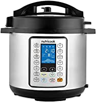 Nutricook Smart Pot Prime by Nutribullet 1200 Watts - 10 in 1 Instant Programmable Electric Pressure Cooker, 8 Liters,...
