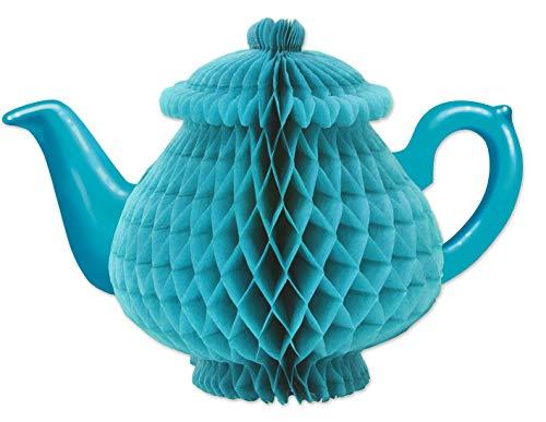 Beistle Tissue Teapot Centerpiece, 7', Blue
