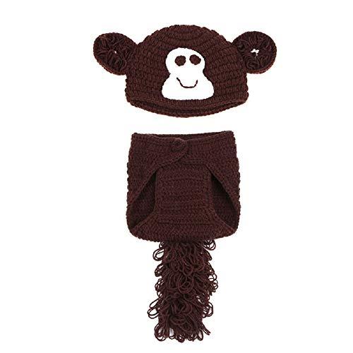 Travestimenti per neonati, realizzati all'uncinetto (Piccola Scimmia)