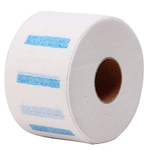 Pwtchenty Papierhandtuch 500 Stück Einweg-Papierstreifen mit Halsausschnitt Friseursalon-Friseur
