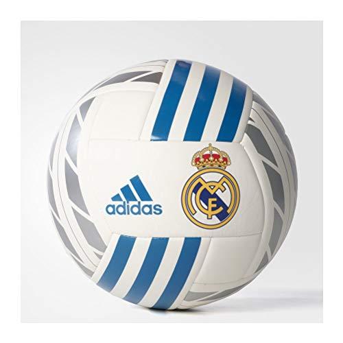 adidas Real Madrid Fbl Balón Temporada 2017/2018, Hombre, Blanco (Blanco / Azuint / Plamet), 5