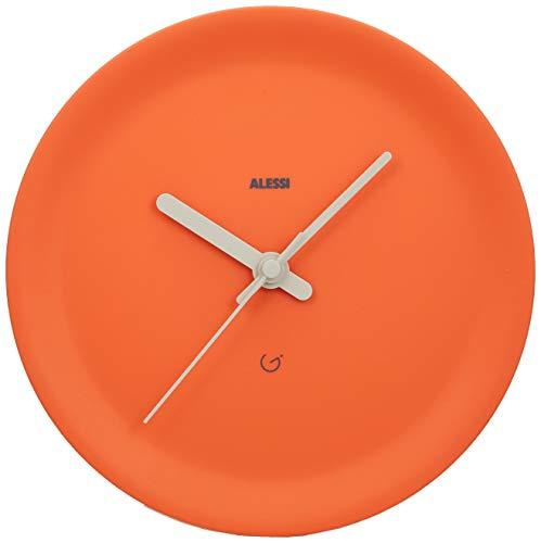 Alessi Kantenuhr, thermoplastischem Harz, orange, 21 x 21 cm