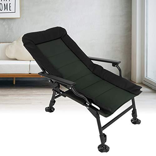 Cikonielf Sillón de Pesca, sillón Multifuncional Ajustable para Pesca al Aire Libre, Camping, Silla de Senderismo, Silla Plegable Segura