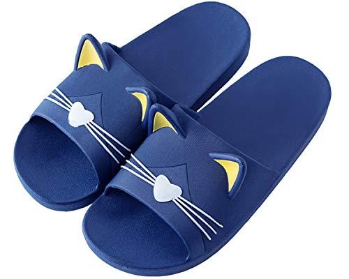 Jungen Mädchen Pantoletten Kinder Hausschuhe rutschfeste Sandalen Sommer Flache Leicht Slipper Badelatschen Dusch-& Badeschuhe -Herren Blau-42/43 EU