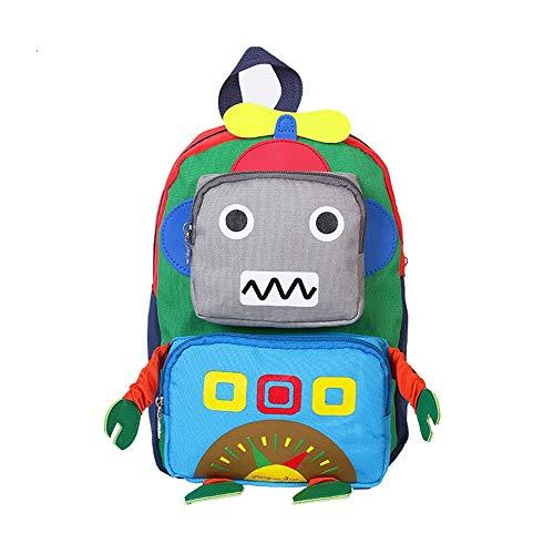 Mochila escolar para niños Robot de la escuela primaria de jardín de infancia de los niños bolsa adecuada for Summer Camp Actividades para niñas y niños ( Color : Multi-colored , Size : 27x20x