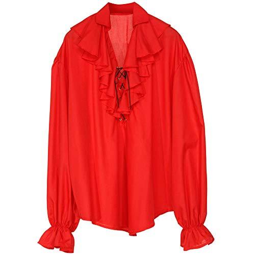 Widmann 4183D piraci lub renesansowa bluzka, czerwona, M
