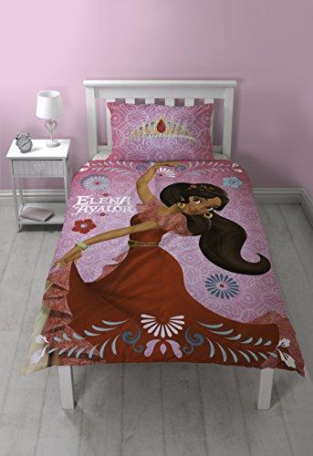 Disney Elena Avalor Bettbezug-Set, Polyester-Baumwolle, rosa, Einzelbett