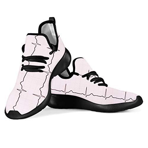 SEANATIVE Zapatillas de correr transpirables para mujer, para senderismo, correr, con cordones, malla, color, talla 38 EU