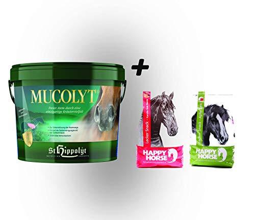 St. Hippolyt Mucolyt 10 kg und wir schenken Ihrem Pferd 2 x 1 kg Happy Horse Lecker Snacks
