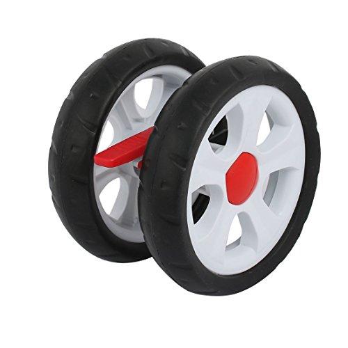sourcingmap 150mm in plastica del ametro del freno ruota posteriore della puleggia per rullo 16mm tubo