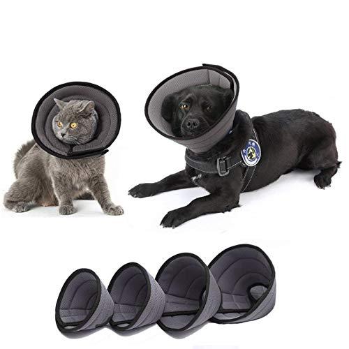 HanryDong Hundehalsband aus atmungsaktivem Netzgewebe, für schnellere Heilung, weiche und bequeme, verstellbare Halskrause, weiche Kanten, verhindert Beißen/Lecken für Katzen, Hunde.