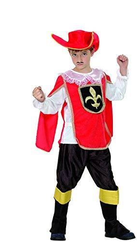 Rire Et Confetti - Fibmou031 - Déguisement pour Enfant - Costume Petit Mousquetaire Rouge - Garçon - Taille M
