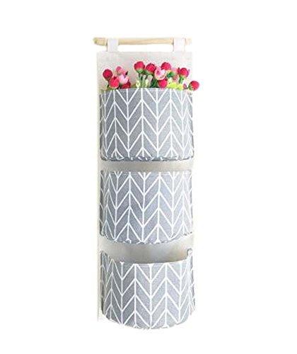 Sac de rangement mural de style simple Sac de rangement en tissu, gris