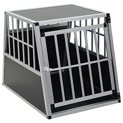 Queen.Y Heavy Duty Dog Crate, Strong Metal Military Quality Pet Cage, Large Medium Dog Kennel for Car Trunk and Garden, 35.8inch