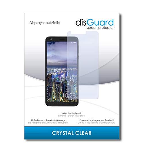 disGuard® Bildschirmschutzfolie [Crystal Clear] kompatibel mit Sharp Aquos B10 [2 Stück] Kristallklar, Transparent, Unsichtbar, Extrem Kratzfest, Anti-Fingerabdruck - Panzerglas Folie, Schutzfolie