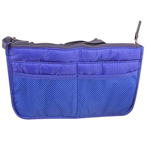 Sac cosmétique Sac de Maquillage Organisateur Voyage Portable Pouch beauté Fonctionnelle Sac de Toilette Maquillage Maquillage Organisateurs Téléphone Sac Case (Color : Blue)
