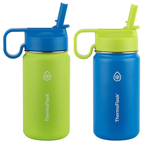 Thermoflask Kids Double Wall Vacuum Insulated Stainless Steel (Green/Blue)