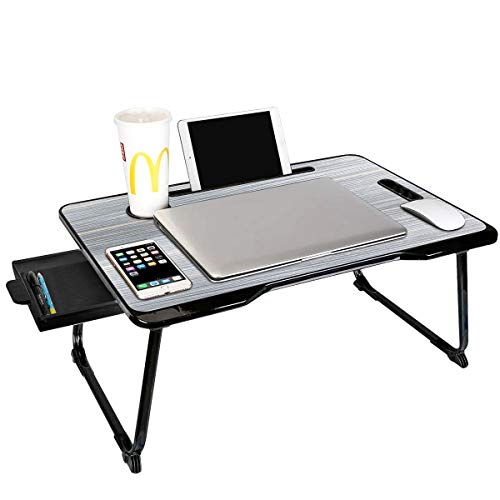 Laptop Desk, Portable Laptop Bed Tray Table, Notebook Stand Reading Holder,Couch Table,Bed Desk with Handle for Reading Book, Watching Movie on Bed/Couch