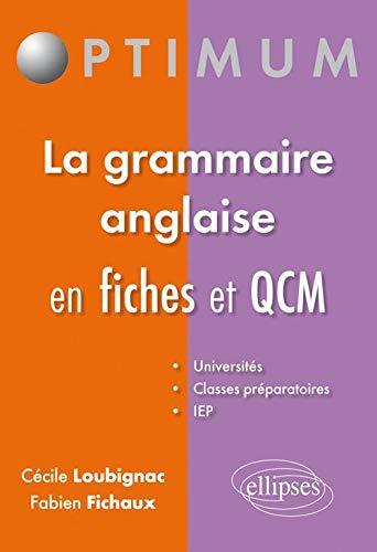 Qcm & Fiches de Grammaire Anglaise