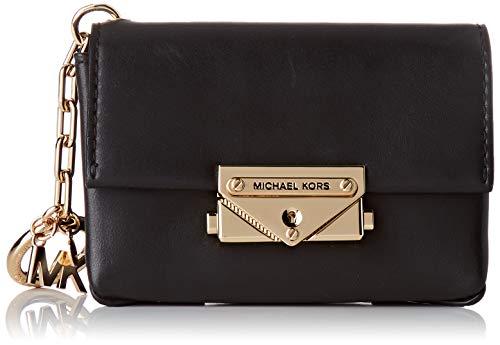 Michael Kors Charms Leather, Bolsa de noche para Mujer, Negro, Small