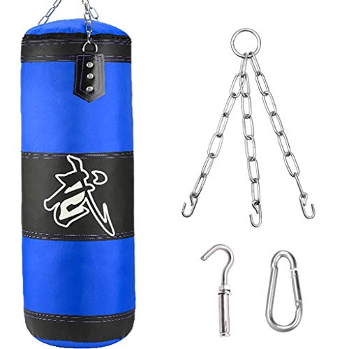 XHLLX Trushing Bags Non Filled Punching Bag, 100 Cm Hanging Boxing Bag, Wall-Mounted Heavy Punching Bag, Women/Kids Fitness Formation Relief