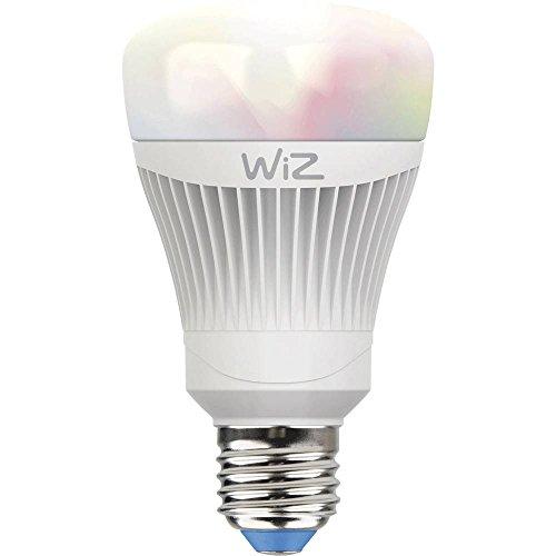 Smartes LED-Leuchtmittel von WiZ; Kolbenform A, weiß + farbig, WLAN-schaltbar. Dimmbar; 64.000 Weißschattierungen + 16 Mio. Farben. Kombinierbar mit Amazon Alexa und Google Home.