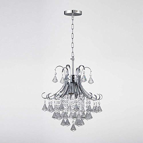 Kristallen plafondlamp, 3-licht kristallen kroonluchter met grote kralen hanger voor slaapkamer woonkamer restaurant bar, E14