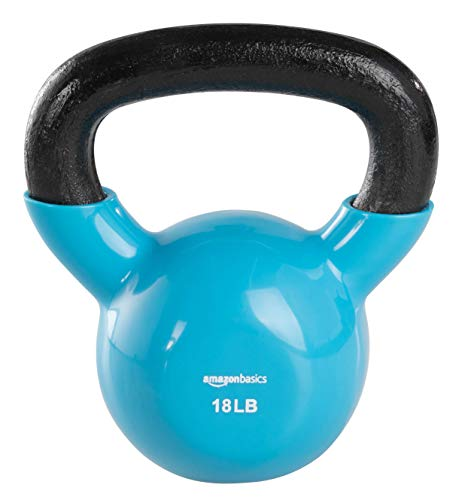 AmazonBasics Vinyl Kettlebell - 12 Pounds, Yellow