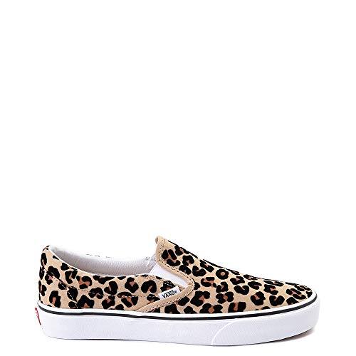Unisex Authentic Classic Sneakers Skate Shoe (Slip On - Leopard 7483, Numeric_9_Point_5)