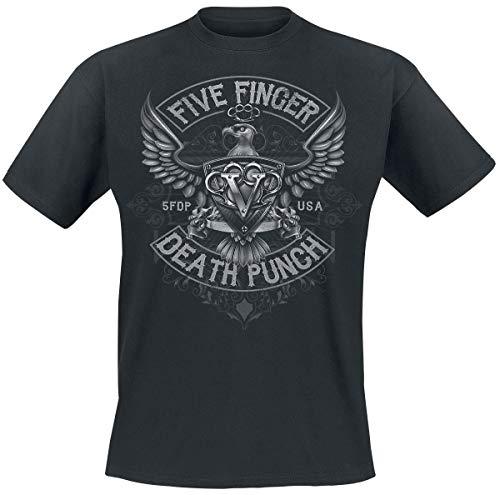 Five Finger Death Punch Howe Eagle Crest Männer T-Shirt schwarz L 100% Baumwolle Band-Merch, Bands